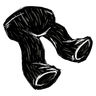 Scribble Black Pants Icon