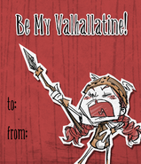 Wigfrid Valentine Card