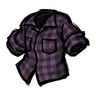 Tentacle Purple Lumberjack Shirt Icon