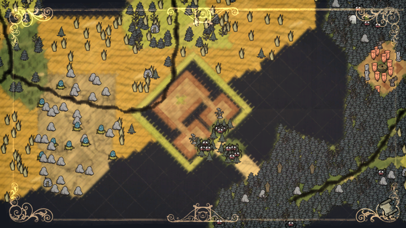 Don T Starve Map united states map blank Don T Starve Map on