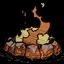 Obsidian-Feuerstelle