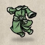 Silk loungewear green laurel collection icon
