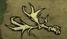 Ramure de cerf lachée