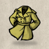 Trenchcoat yellow straw collection icon