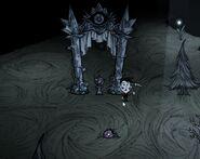 Небесный портал и идол в пещерах