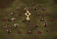 Могила с цветами