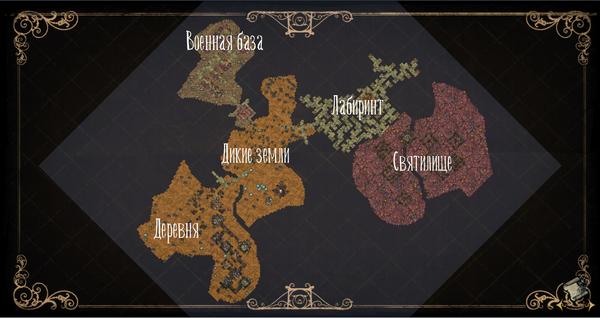 Карта руин