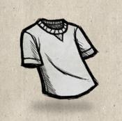 Tshirt white smoke collection icon