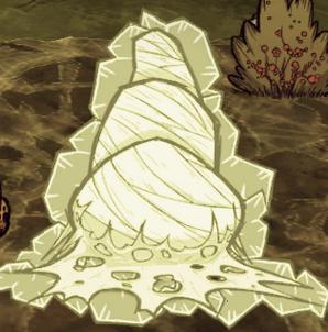 Кокон, замороженный циклопом в DLC