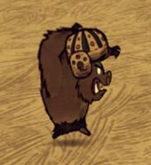 Werepig wearing foogball helmet