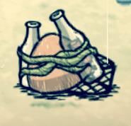 Морская ловушка лежит на земле