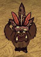 Свин-оборотень в перьевой шляпе