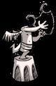 Статуя арфиста