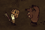 Wilson chased by werepig