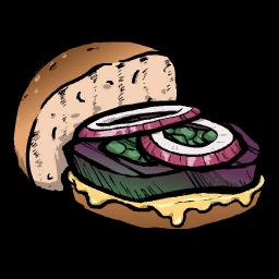 Овощной бургер