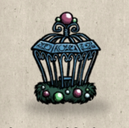 Birdcage ornamental collection icon