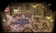 The Boar's Tusk Weapon Shop interior