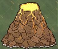 Dry Season Volcano on Map