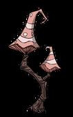 Красное грибное дерево