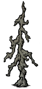 Старое окаменелое дерево в игре