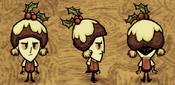 Wilson wearing winterhat plum pudding