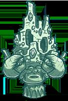 Statue Crab King Moonglass