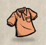 Polo orange salmon collection icon
