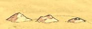 Стадии разрушения кучки песка