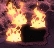 Растение горит