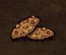 Тыквенное печенье на земле