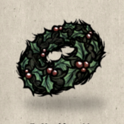 Flowerhat holly wreath collection icon