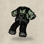 Overalls black scribble collection icon