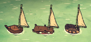 Тканевый парус на лодках