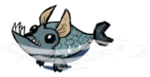 Живая рыба-собака