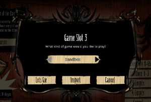 Dont starve Importing