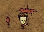 Уилсон под зонтом