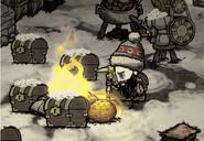 Свечение термального камня