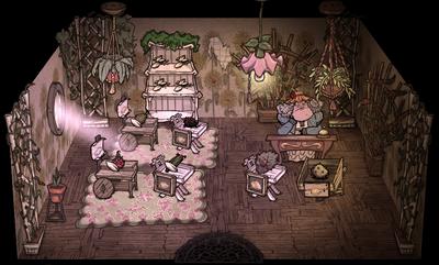 Цветочный магазин внутри