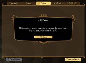 Cavesサーバー説明