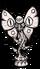 Фигура лунной бабочки из мрамора