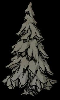 Высокое окаменелое дерево