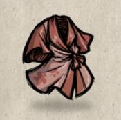 Silk eveningrobe red rump collection icon
