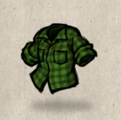 Flannel green napier collection icon
