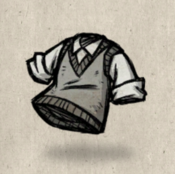 Sweatervest grey silver collection icon