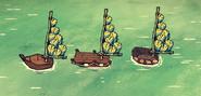 Перьевой парус на лодках