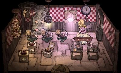 Продовольственный магазин внутри