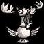 Moose Figure (Marble)