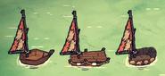 Кожаный парус на лодках