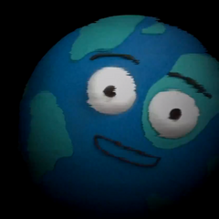 Gilbert the Globe's cameo when Colin sucks the puppets into the digital world