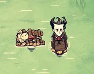 Wilbur na drewnianej tratwie (DSS)